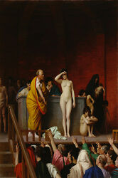Home Decor Art Selling Slaves In Rome Oil Painting Picture Printed On Canvas