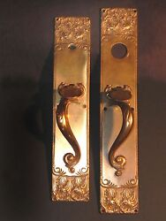 Antique Set Of Walsingham Bronze Entry Hardware By Russel Erwin Co.