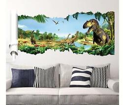 3D dinosaur Jurassic Removable Wall Stickers Decal Kids bed room Living room USA