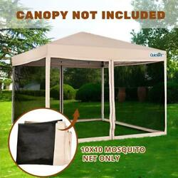 Quictent Canopy Screen Walls Replacement Netting For 10x10 Canopy Tent Gazebo Us