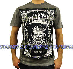 Affliction Death Clock A9234 New Short Sleeve Fashion Graphic T-shirt For Men