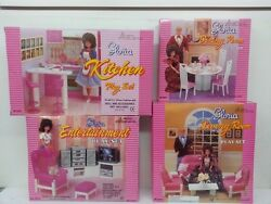 Gloria, Barbie Size Doll Furniture,kitchen,dining,entertainment,living Room