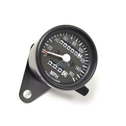 Mini Speedo Black Motorcycle Mechanical 160mph Speedometer Gauge 2240=60mph