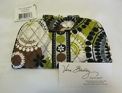 Vera Bradley COCOA MOSS KISS & SNAP WALLET Clutch COIN FOR PURSE Tote BAG  NWT