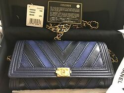 2016 Chanel Boy Wallet On Chain WOC chevron