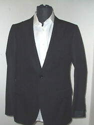 New  Pal Zileri Black Suit 100 Wool Size 44 R Us 54 R Eu Made In Italy 2btn