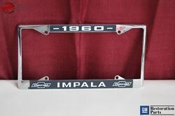 1960 Chevy Impala Gm Licensed Front Rear License Plate Holder Retainer Frame