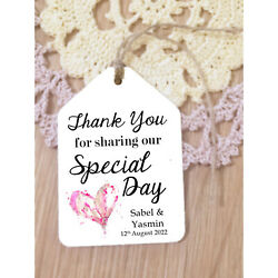 'thank You For Sharing Our Special Day' - Wedding Favour Luggage Tags Labels
