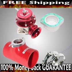 Red Adj Type Rs Blow Off Valve+ 2.5 Silicone Type S Adapter+ss Clamps Combo