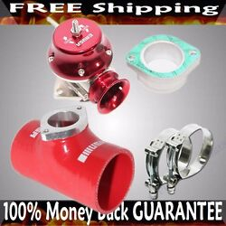 Red Adj Type Rs Blow Off Valve+ 3 Silicone Type S Adapter+ss Clamps Combo