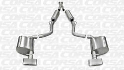 Corsa Dual Rear Cat-back Exhaust For 2011-2014 Dodge Challenger Polished 14529