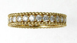 New Well Made 18k Yellow Gold And Diamond Eternity Band 1.10 Cts. Size 6.5