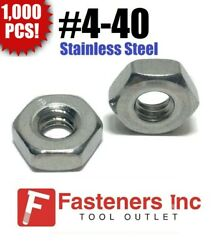 Qty 1000 4-40 Stainless Steel Finished Hex Nuts 304 / 18-8