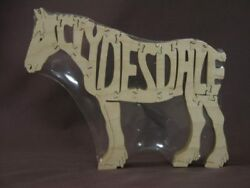 Sale Clydesdale Draft Horse Wooden Tack Room Puzzle Toy New Figurine Art
