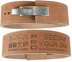 Lever Buckle Weightlifting Belt 100 Real Genuine Leather Individually Handmade