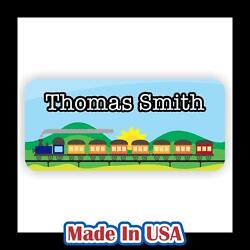 42 Personalized Waterproof Train Name Labels Stickers Tag Kids School Shoes Hat $9.99