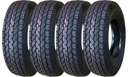 4 New Free Country Trailer Tires St225/75d15 225 75 15 H78-15 Lrd 8pr Bias 11022
