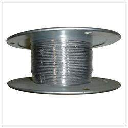 5/16 .312 X 500and039 Stainless Steel T304 Aircraft Cable Reel 7x19 Wire Rope
