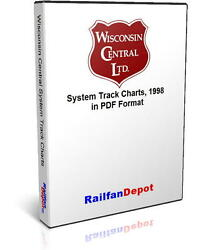 Wisconsin Central And Algoma Central Track Chart 1998 - Pdf On Cd - Railfandepot