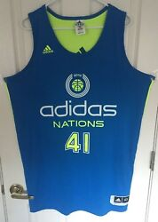 Rare Justise Winslow Game Worn High School Adidas Nations 2013 Jersey W/pictures