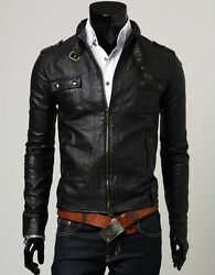 New Tailor Made Genuine Real Leather Casual Fashion Jacket Coat C12