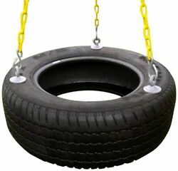 Rubber Tire Swing For Backyard Outdoor Playsets - 3 Rubber Coated Swing Chains