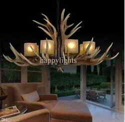 Antler Chandeliers Lobby Home Lights Living Dining Room Hunting Fishing Led Bulb