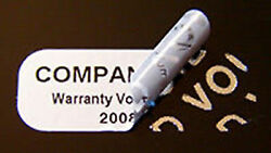 100000 Tamper Evident Security Labels Seals Stickers Silver Void 1x .375 Cheap