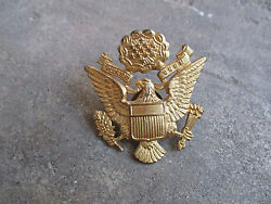 Wwii J.r. Gaunt English Theater Made Us Officer's Hat Badge Cap Pin Rare 2