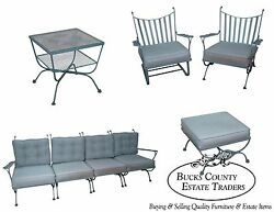 Woodard Andalusian Vintage Iron Sofa Chairs Tables Patio Set