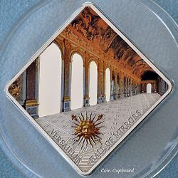 2013 Palau 10 Hall Of Mirrors Versailles 50 Gram Silver Coin Antique Finish