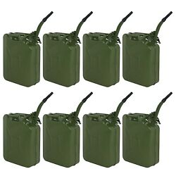 8pcs 20l 5 Gal Nato Jerry Can Gasoline Fuel Can Metal Gas Tank Emergency Backup