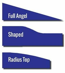 Shaped Desk Top Office Partition Divider Screen In Royal Blue 3 Style Choice