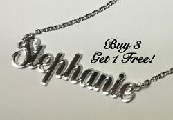 Name Necklace Acrylic Personalized Buy 3 get 1 FREE FREE Shipping 22 Colors $11.69