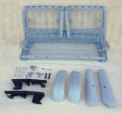 1955-1956 Chevy Oem 2-door Front Bench Seat W/ Tracks, Shells, And Hardware Show