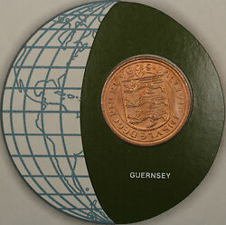 Coins Of All Nations 1979 2 Pence Guernsey Coin And Stamp Set