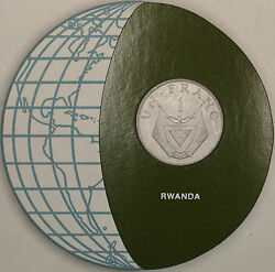 Coins Of All Nations 1977 1 Franc Rwanda Coin And Stamp Set