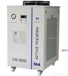 Industrial Water Chiller Cool 3x 100w 4x 80w Co2 Laser Tube 220v 50hz Cw-6000ah