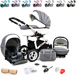Baby Pram 3 In 1 Buggy Pushchair Newborn Car Seat Carrycot Travel System
