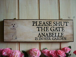 Personalised Bichon Frise Dog Sign Garden Signs House Plaques Bichon Frise Gifts