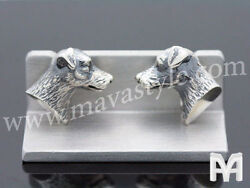 925 Sterling Silver Jack Russell Terrier Cufflinks Cuff links Dog Animal Jewelry