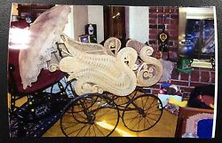 1800's Ornate Victorian Swan Form Wicker Pram In Great Condition Very Rare Style