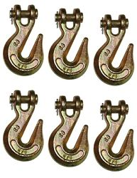 Pack Of 6 - 3/8 G70 Clevis Grab Hook Transport Tie Down Dot Free Shipping Hd