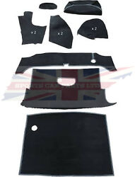 New Deluxe 11 Piece Trunk Boot Black Carpet Kit Mgb 1963-80 Roadster Made Uk