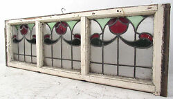 Vintage Art Deco French Stained Glass Hanging Window 2921nj