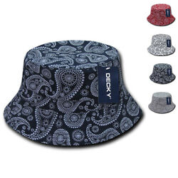 Decky Paisley Bandana Design Fitted Bucket Boonie Hats Caps Cotton 2 Sizes $12.95