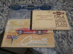 1964 Original 1st Edition Corvette Owners Manual With 1/2 News Card +extras
