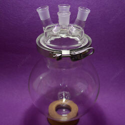 4-neck Reaction Flask,24/29,10000ml Separately Flaskround Bottom,with Clamp
