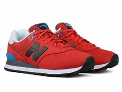 New New Balance 574 Ml574acc Menand039s Classics Shoes Red Black Blue White