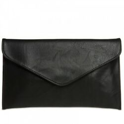 CASPAR TA310 Women Classic Simple Envelope Clutch Evening Bag Shoulder Strap